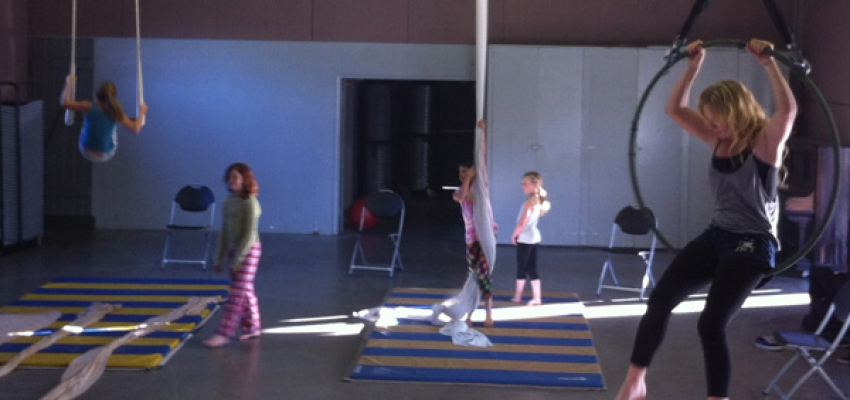 "TYS members rehearse ""Technicolor Dream,"" in the air and on the ground, in their first collaboration with Focus Fish."
